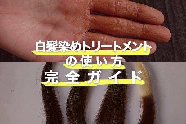 【白髪染めトリートメントの使い方】キレイに染めるコツや流れを解説