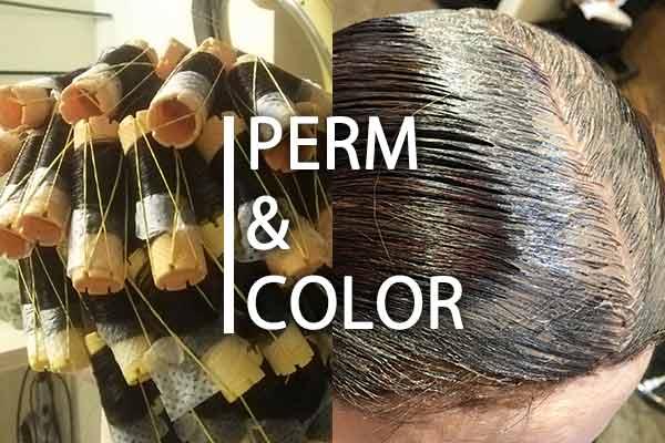 白髪染めとパーマは同時にできるの?