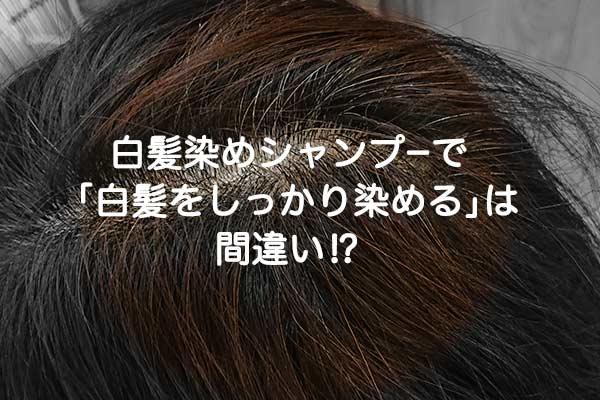 白髪染めシャンプーを使っても根元の白髪はしっかり染まりません…