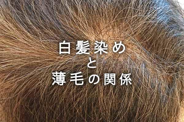 白髪染めが薄毛・抜け毛の直接的な原因とはならない。なぜなら…